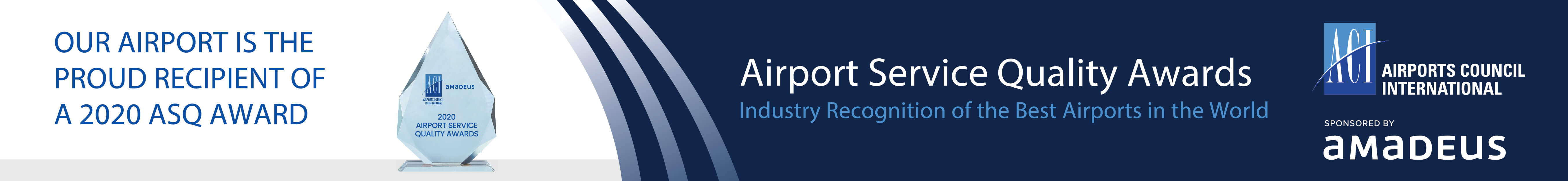 WCAA Airport Service Quality Awards banner