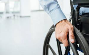 Passenger in wheelchair